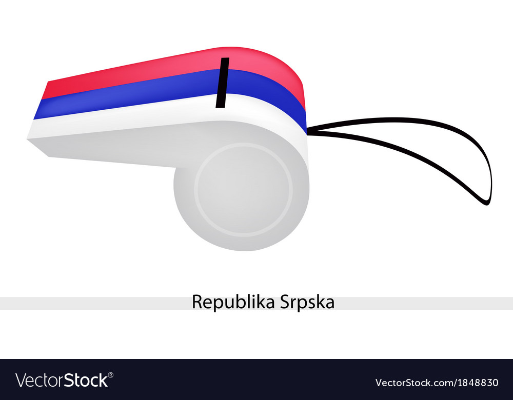 A whistle of the republika srpska flag vector | Price: 1 Credit (USD $1)