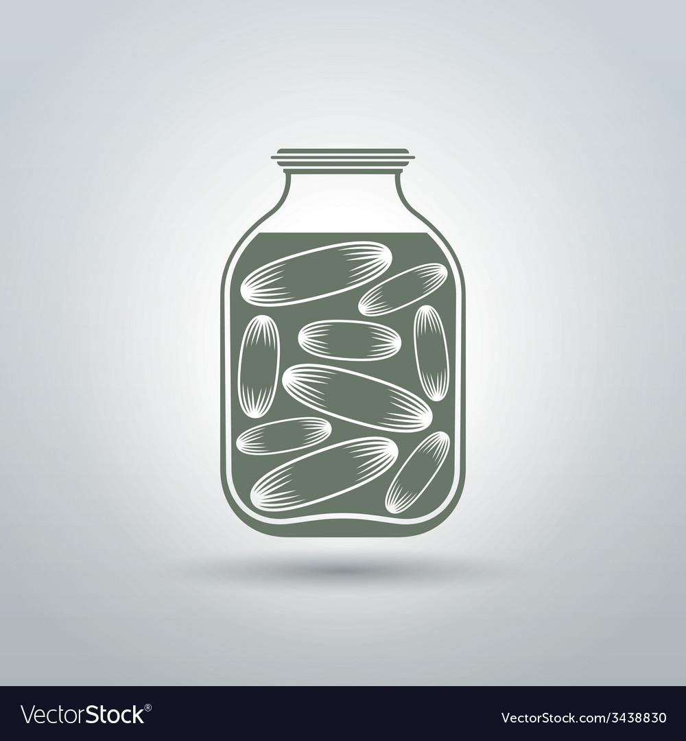 Cucumber jar vector | Price: 1 Credit (USD $1)