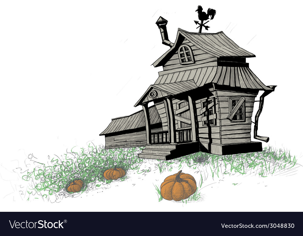 Halloween house color vector | Price: 1 Credit (USD $1)