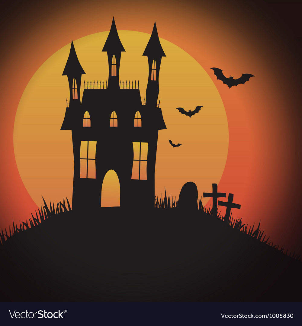 Halloween spooky house vector | Price: 1 Credit (USD $1)