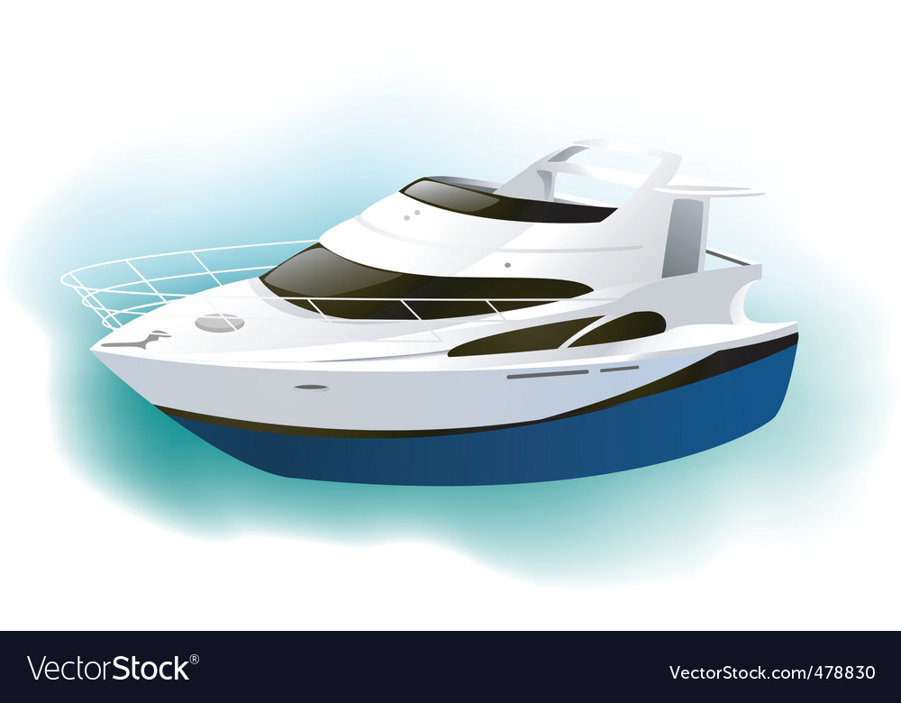 Motor yacht vector | Price: 3 Credit (USD $3)