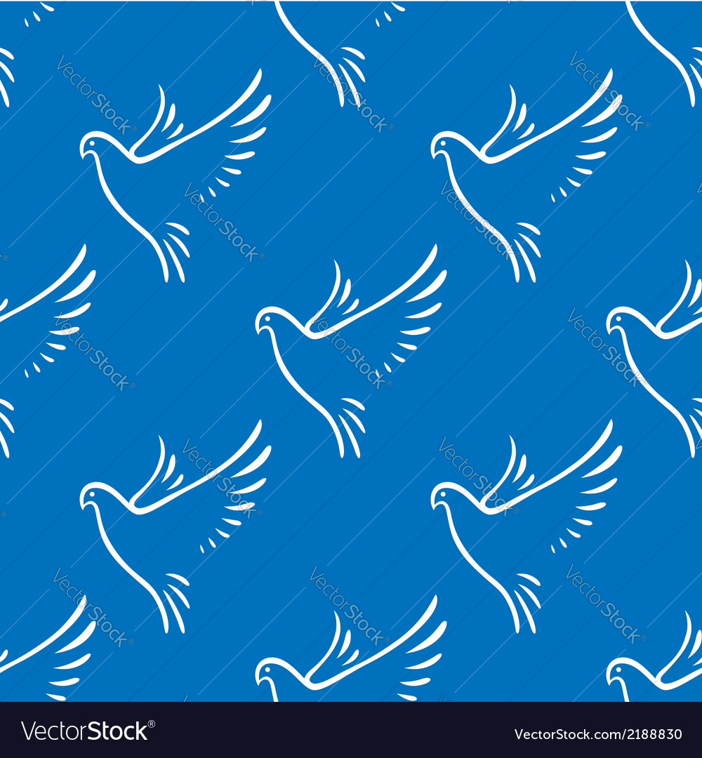 Seamless pattern of flying doves of peace vector | Price: 1 Credit (USD $1)