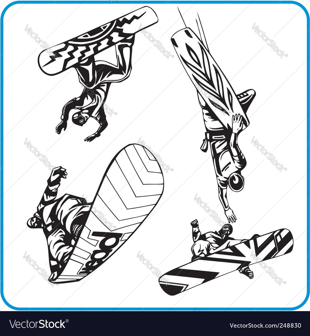 Snowboard vector | Price: 1 Credit (USD $1)