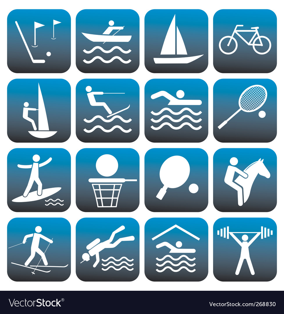 Sport icons set vector | Price: 1 Credit (USD $1)