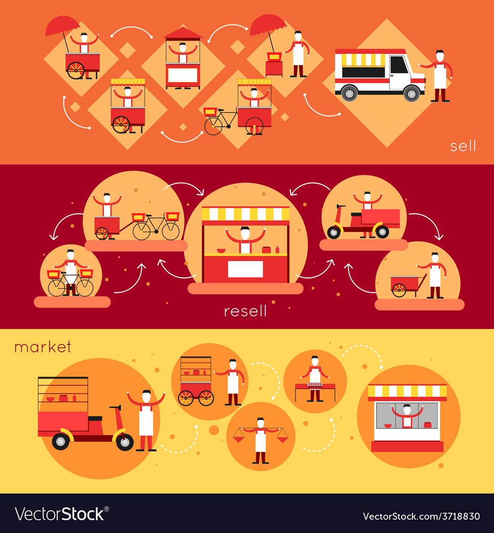 Street food banner vector | Price: 1 Credit (USD $1)