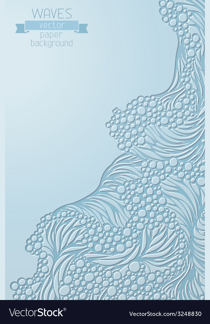 Waves paper background vector | Price: 1 Credit (USD $1)