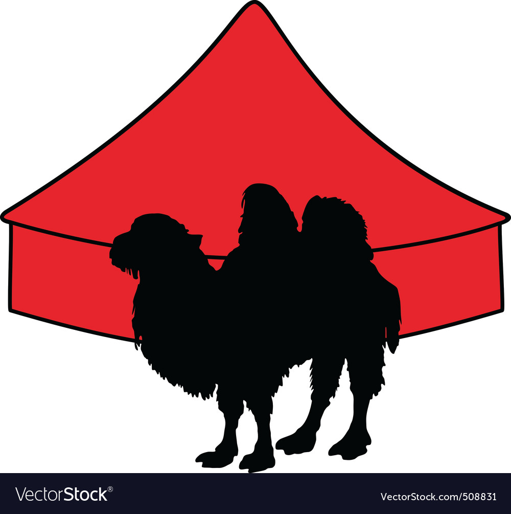 Bactrian camel in circus vector   Price: 1 Credit (USD $1)