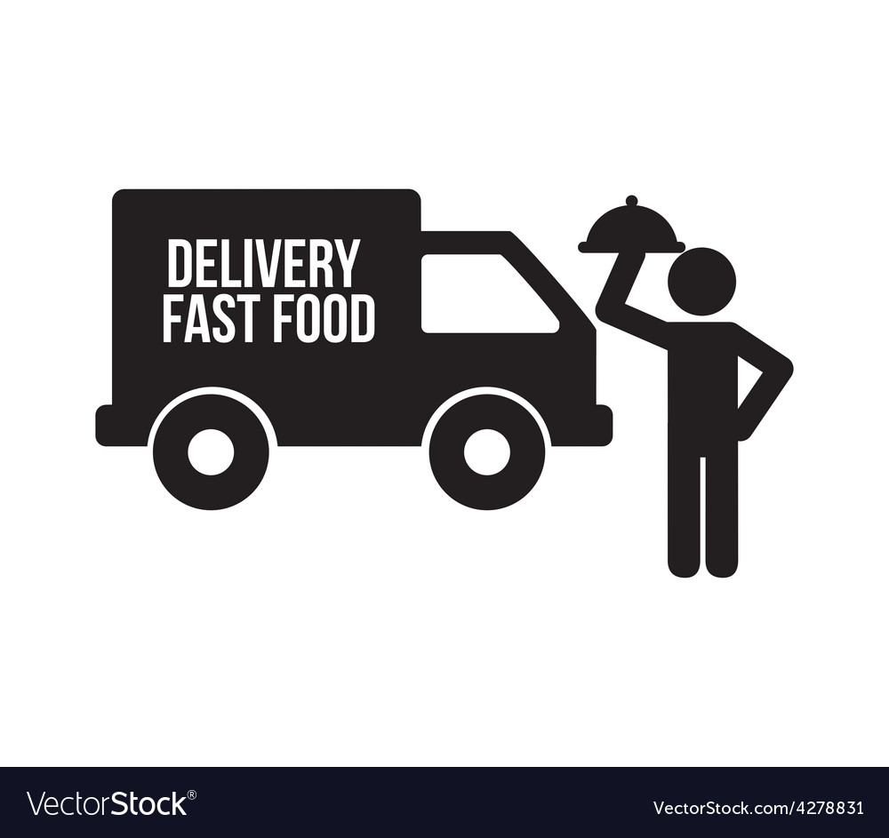 Delivery food vector | Price: 1 Credit (USD $1)