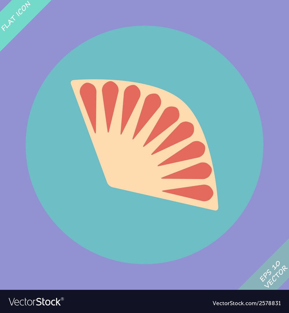 Fan icon isolated -  flat vector | Price: 1 Credit (USD $1)