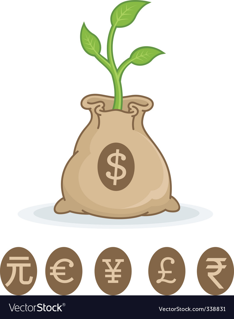 Financial growth symbol vector | Price: 1 Credit (USD $1)