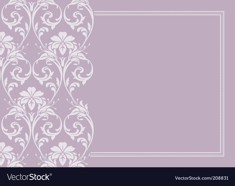 Floral pattern and border vector | Price: 1 Credit (USD $1)