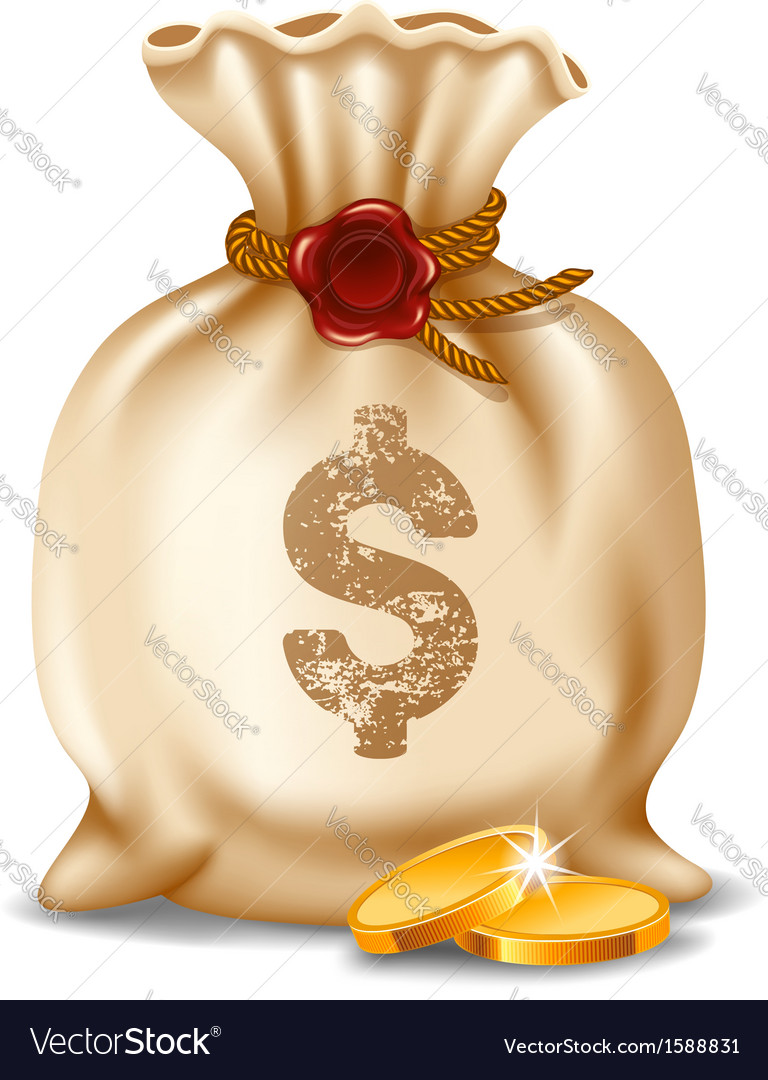 Moneybag vector | Price: 1 Credit (USD $1)
