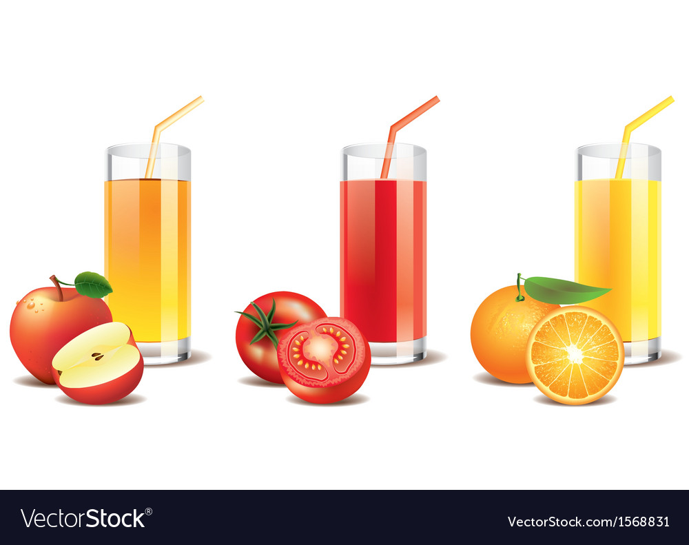 Tomato orange apple juice vector | Price: 1 Credit (USD $1)