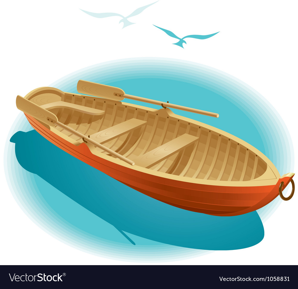 Water walk on boat vector | Price: 3 Credit (USD $3)