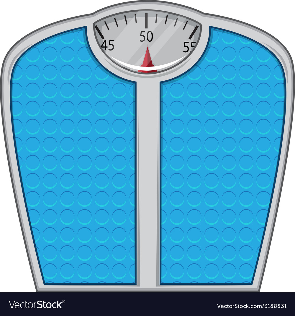 Weight scales isolated on white vector   Price: 1 Credit (USD $1)