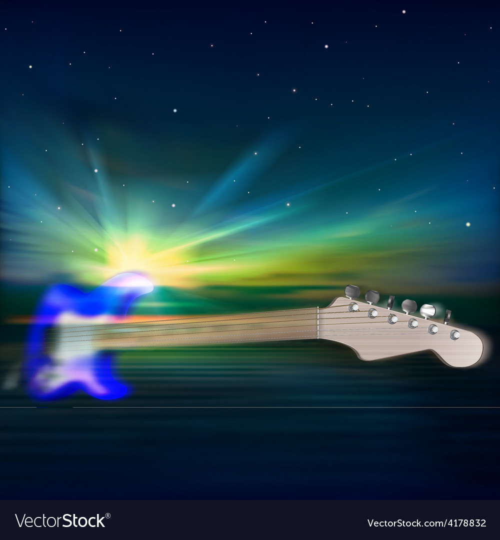 Abstract music blue background with electric vector | Price: 3 Credit (USD $3)