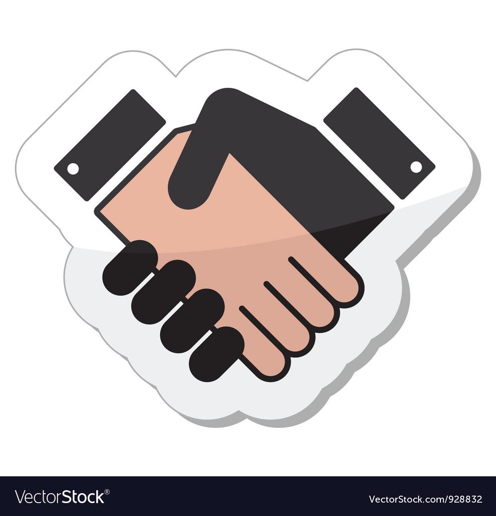 Agreement handshake icon - label vector | Price: 1 Credit (USD $1)