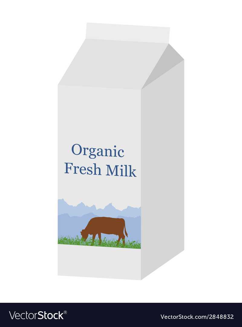Bio milk carton vector | Price: 1 Credit (USD $1)