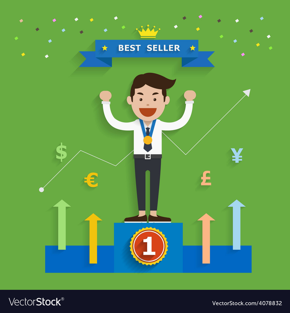 Business concept of best seller vector | Price: 1 Credit (USD $1)