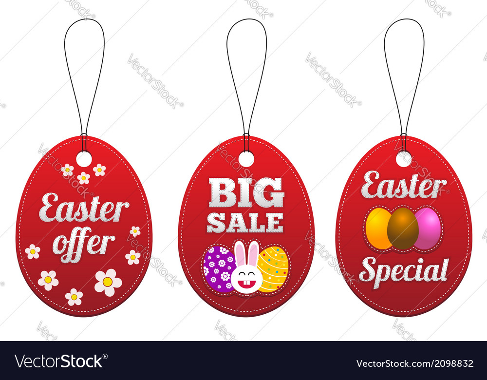 Easter special tags in the form of egg vector | Price: 1 Credit (USD $1)