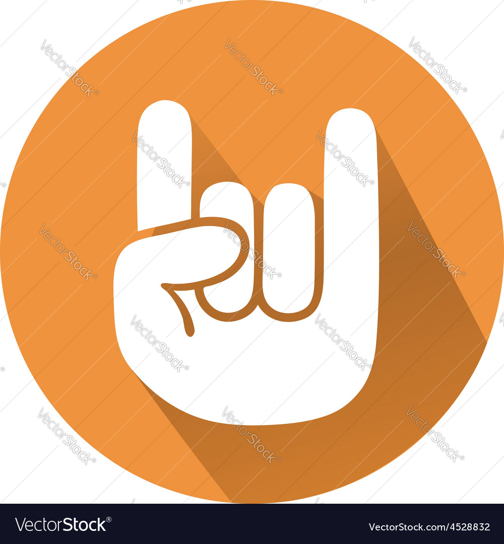 Rock gesture vector | Price: 1 Credit (USD $1)