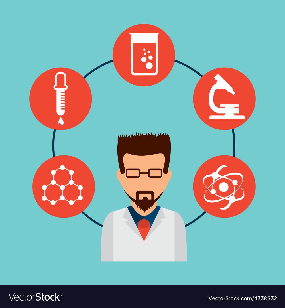 Scientific laboratory vector | Price: 1 Credit (USD $1)