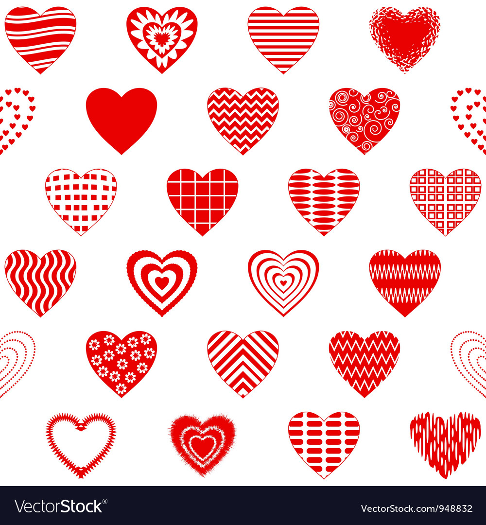 Valentine heart seamless vector | Price: 1 Credit (USD $1)