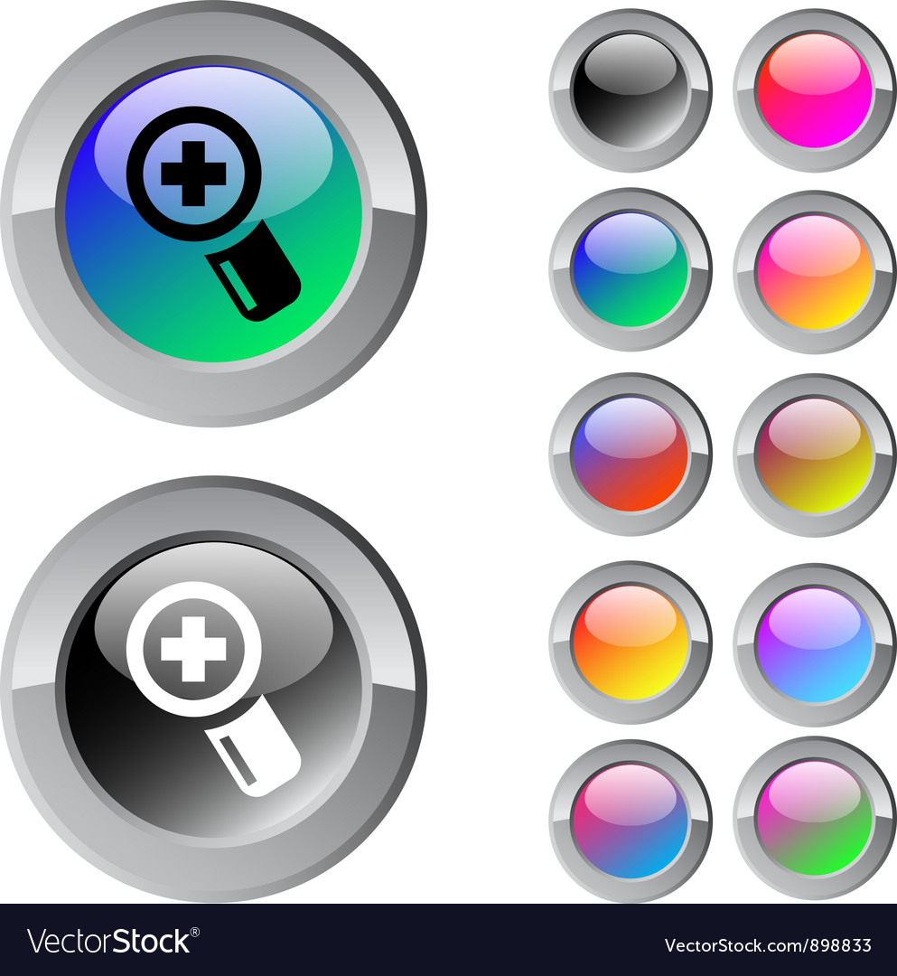 Add multicolor round button vector | Price: 1 Credit (USD $1)