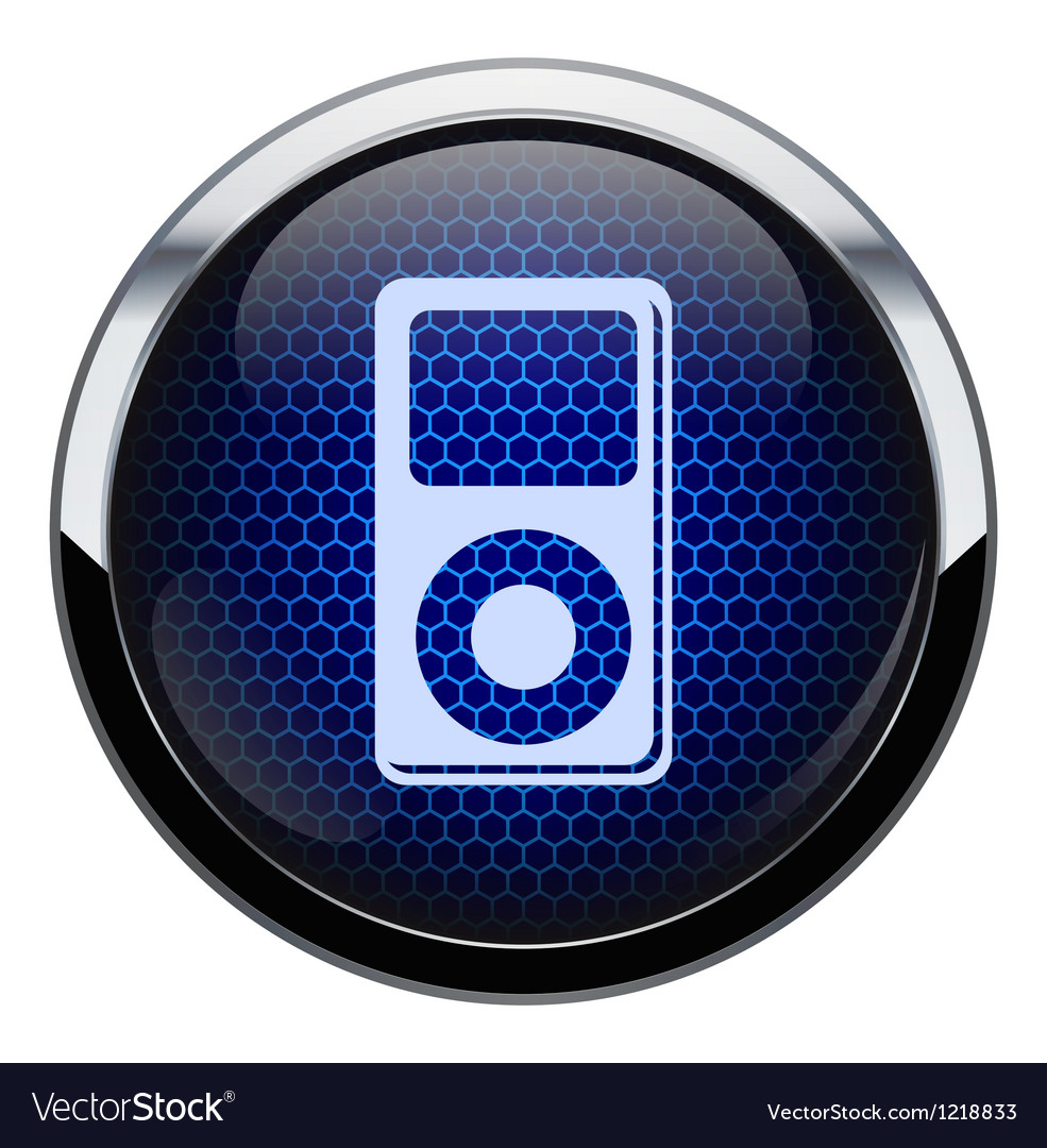 Blue honeycomb music icon vector | Price: 1 Credit (USD $1)