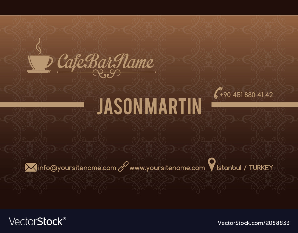 Cafe bar business card vector | Price: 1 Credit (USD $1)