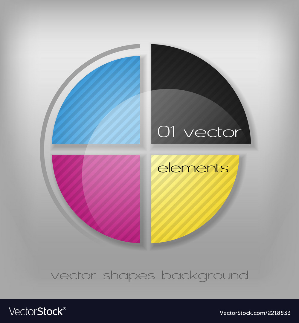 Cmyk circle vector | Price: 1 Credit (USD $1)