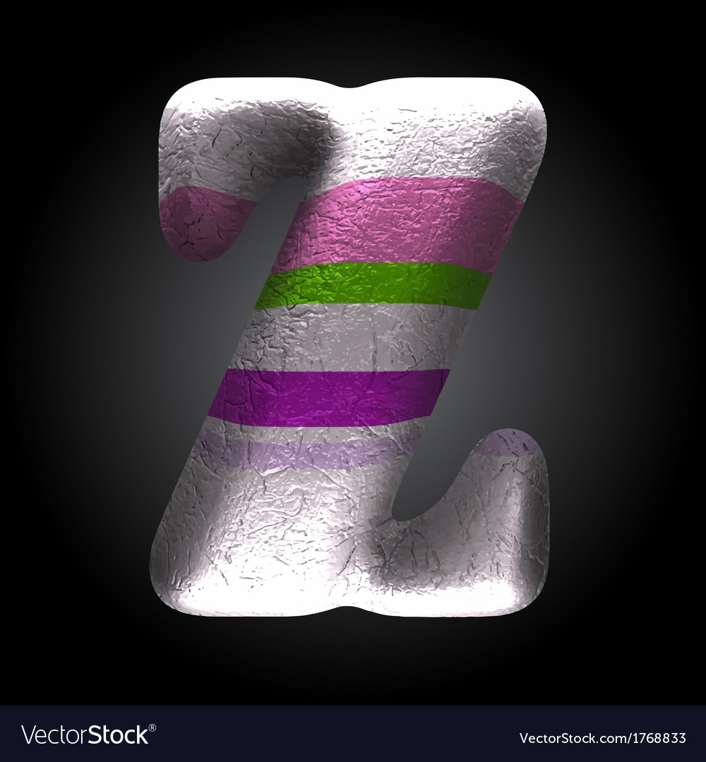 Colored clay letter z vector | Price: 1 Credit (USD $1)