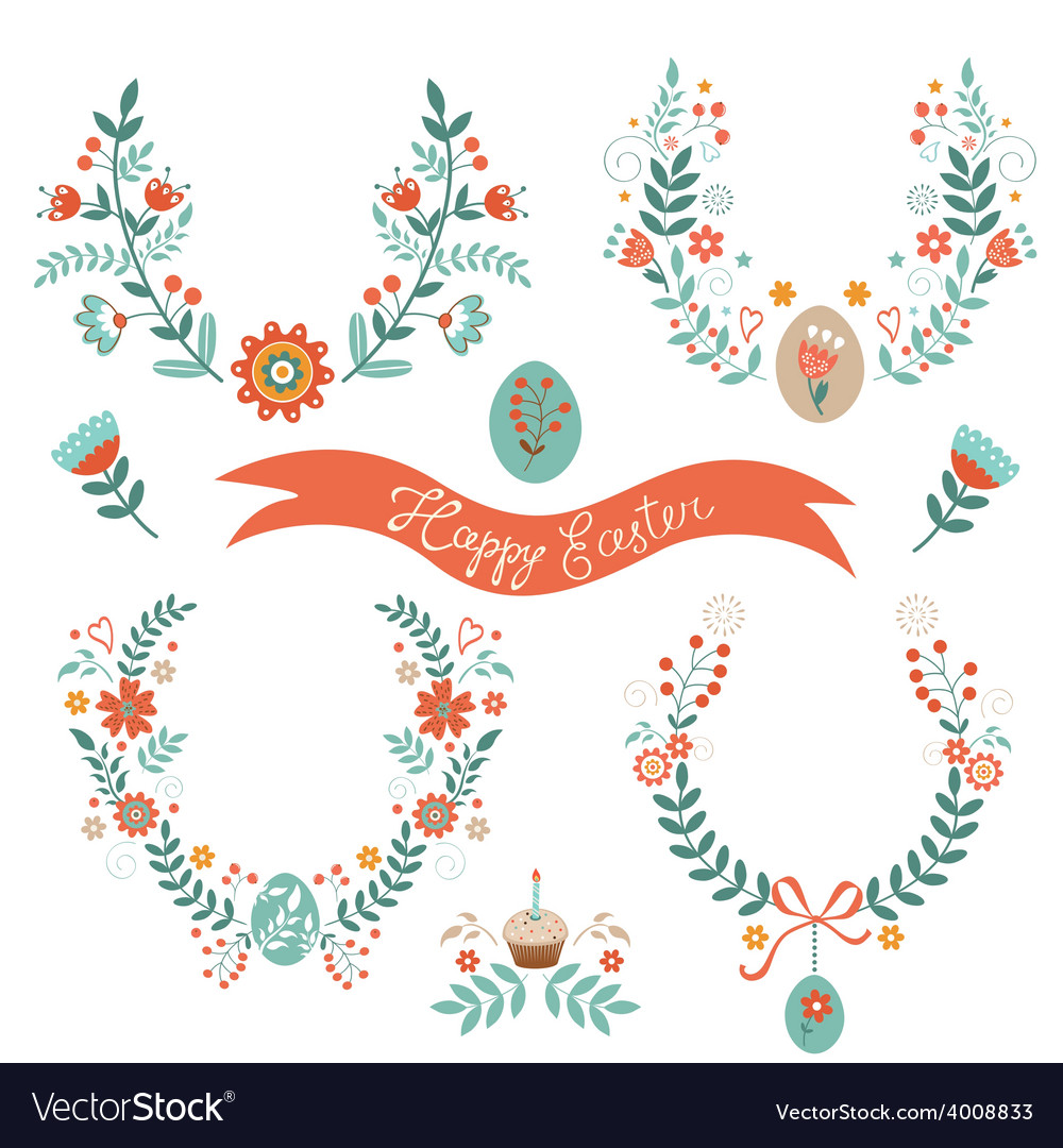 Easter laurels vector | Price: 1 Credit (USD $1)