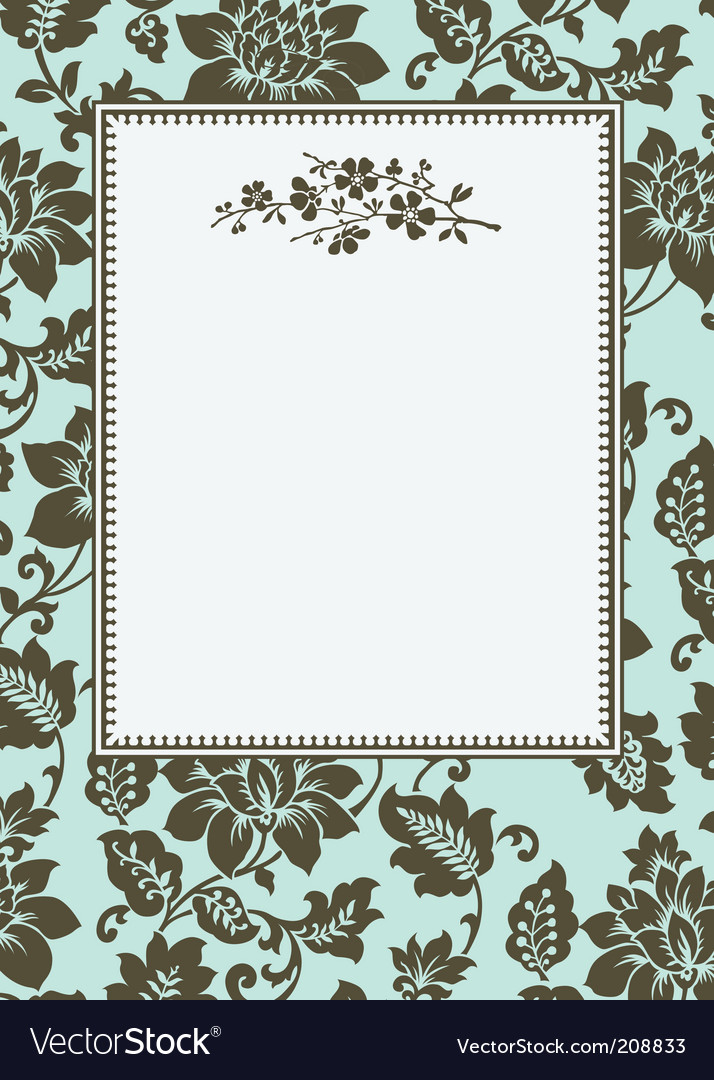 Floral pattern and floral frame vector | Price: 1 Credit (USD $1)