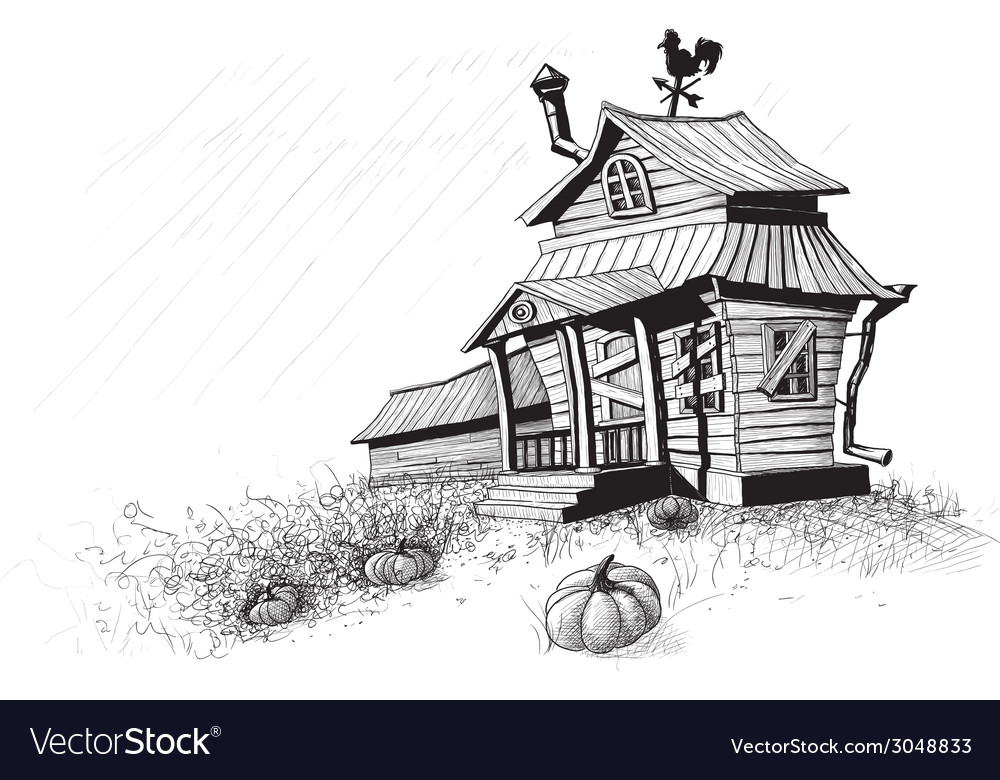 Halloween house black vector | Price: 1 Credit (USD $1)