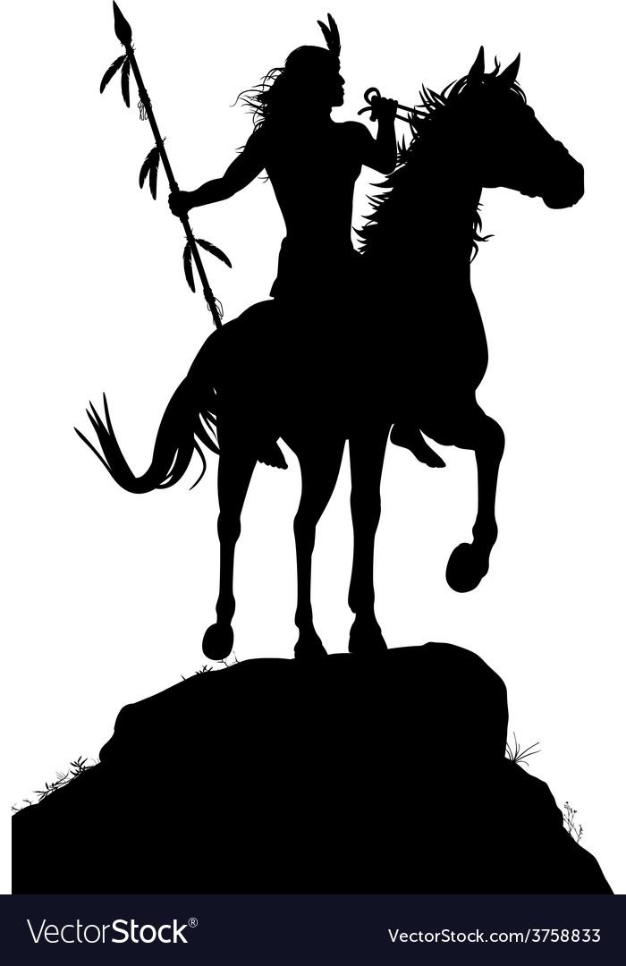Horseback indian vector   Price: 1 Credit (USD $1)