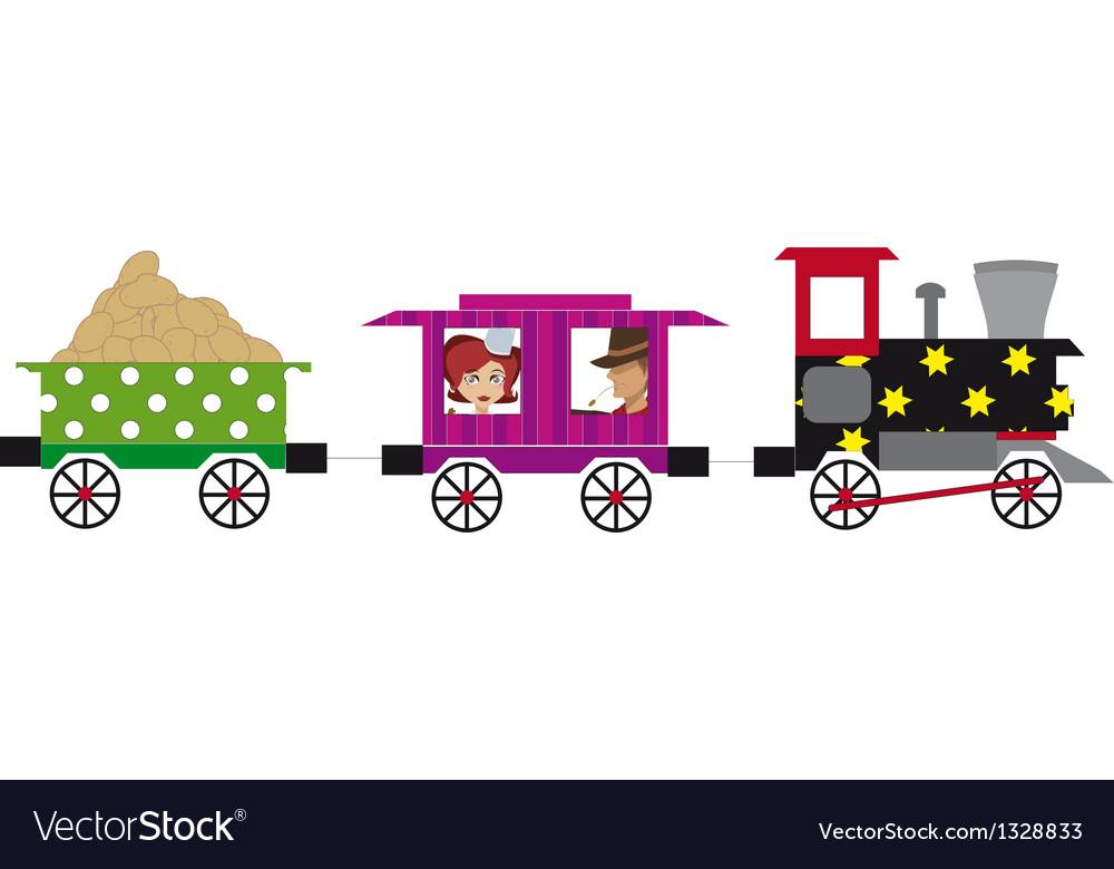 Little train vector | Price: 1 Credit (USD $1)