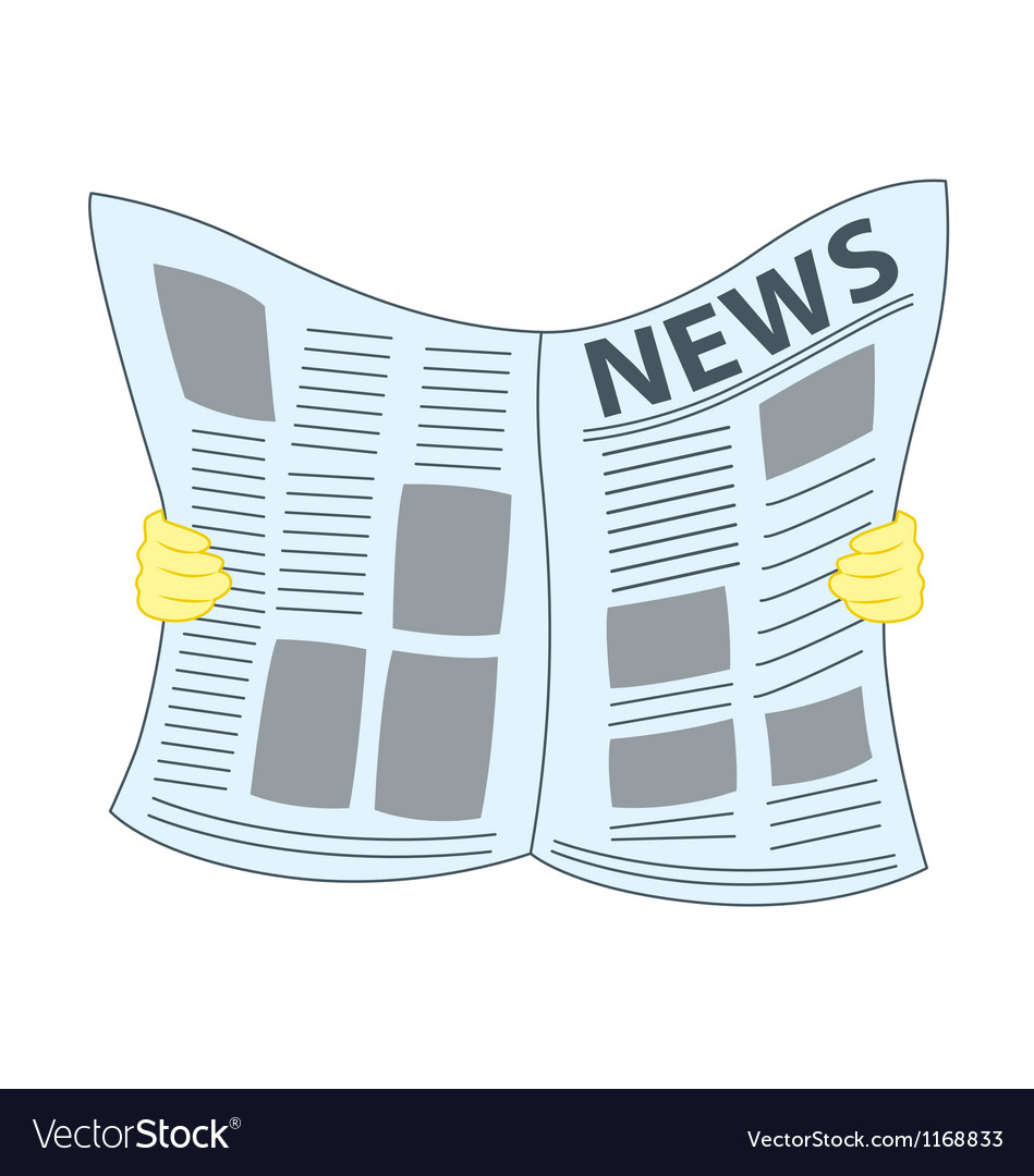Reading newspaper vector | Price: 1 Credit (USD $1)
