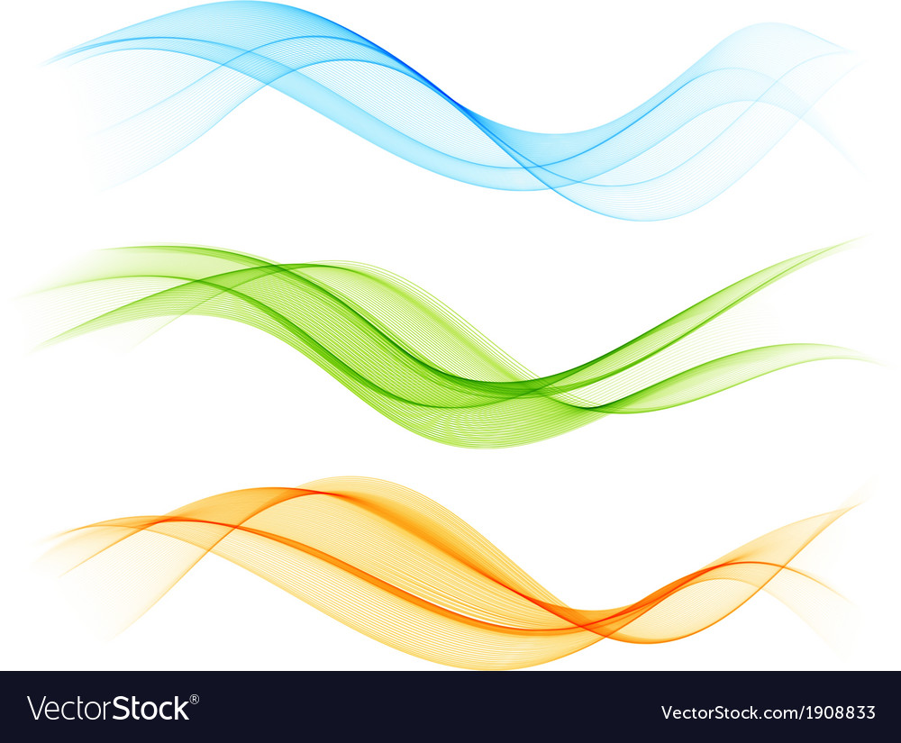 Set of color wave vector | Price: 1 Credit (USD $1)