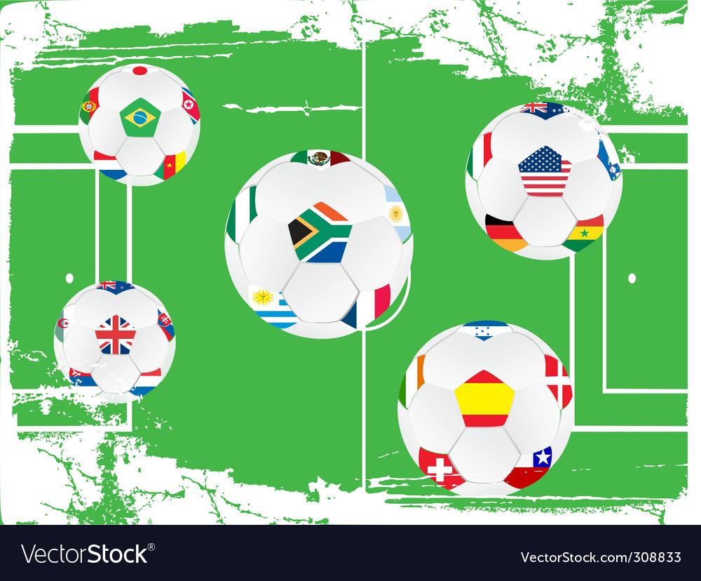 Soccer ball set vector | Price: 1 Credit (USD $1)