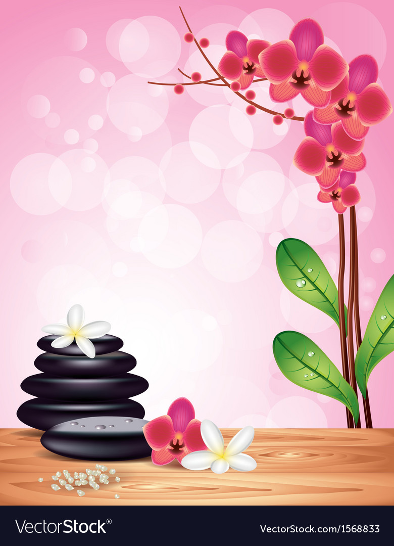 Spa orchid pink background vector | Price: 1 Credit (USD $1)