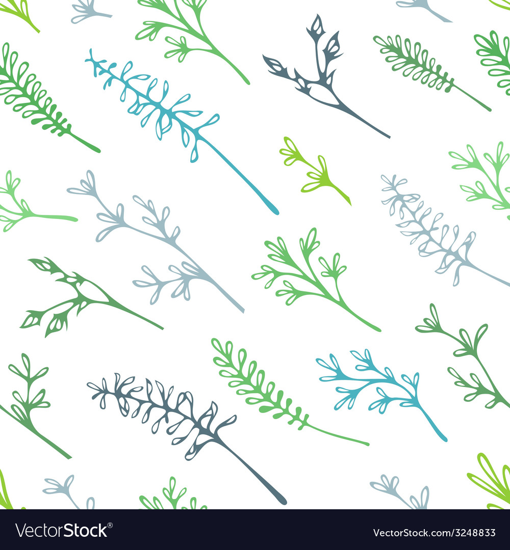 Various grass and floral elements for your design vector | Price: 1 Credit (USD $1)