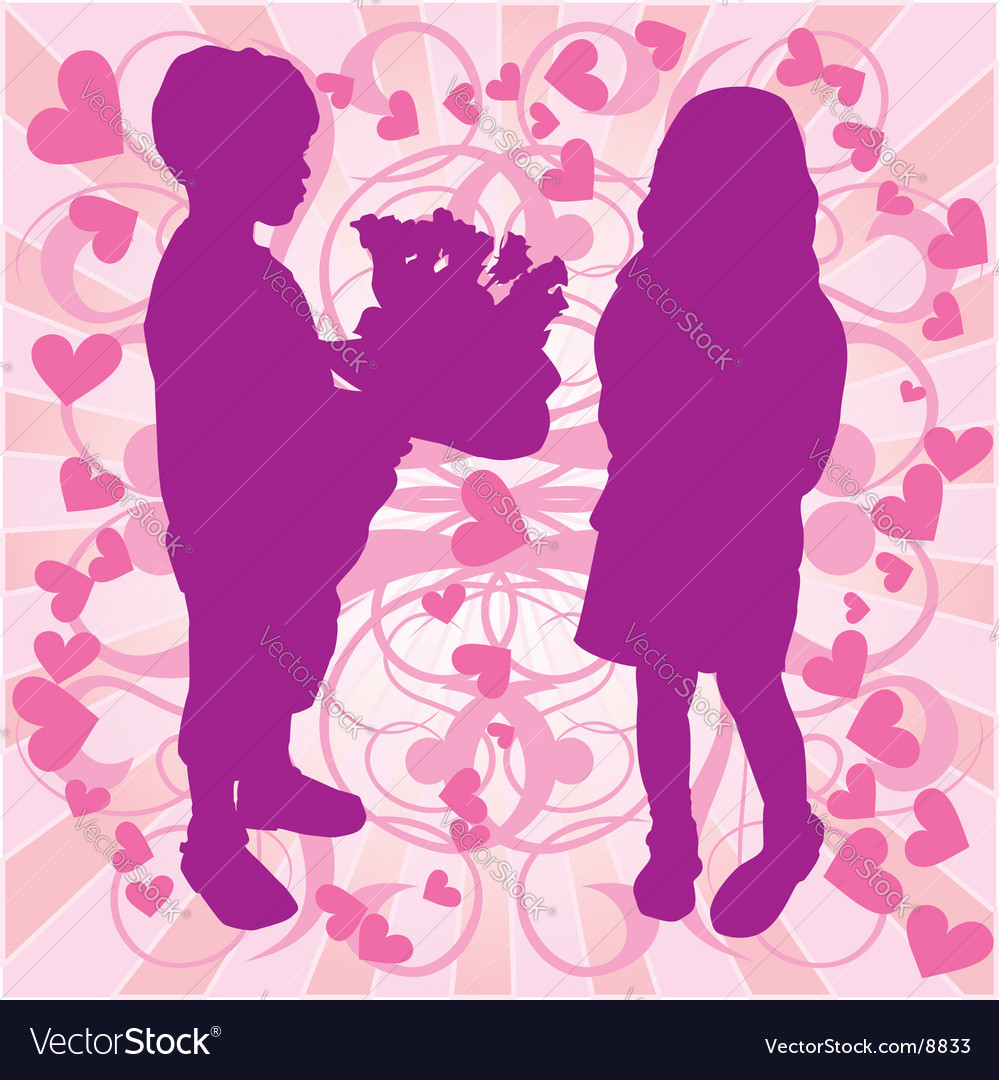 Young love vector | Price: 1 Credit (USD $1)