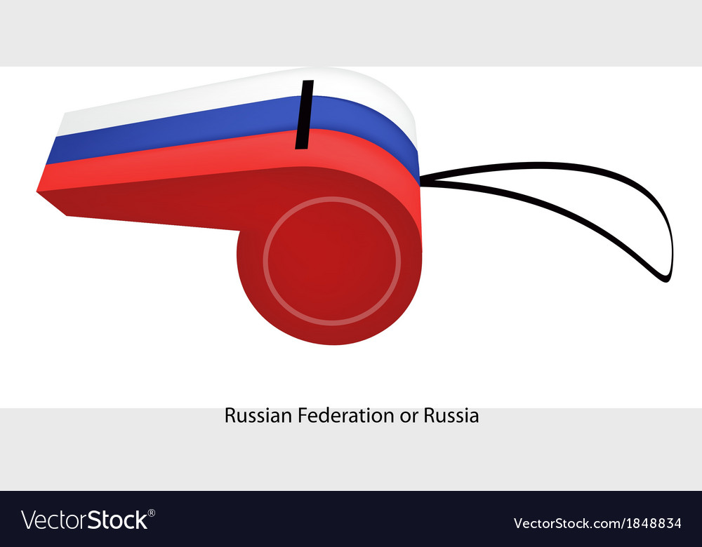 A whistle of the russian federation flag vector | Price: 1 Credit (USD $1)