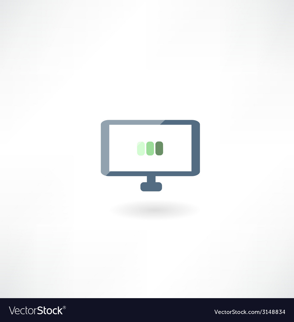 Computer boot icon vector | Price: 1 Credit (USD $1)