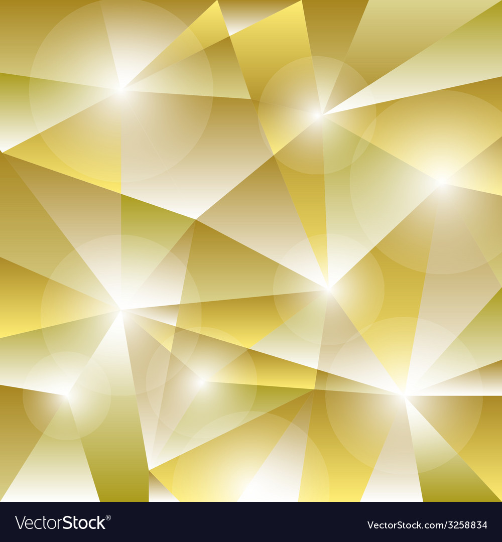 Geometric pattern with golden triangles background vector | Price: 1 Credit (USD $1)