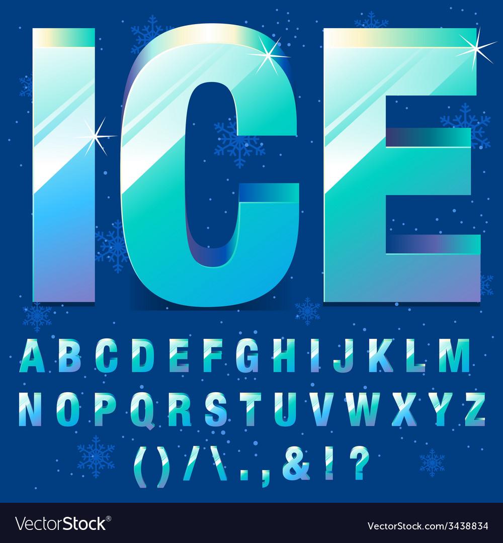 Ice alphabet vector | Price: 1 Credit (USD $1)