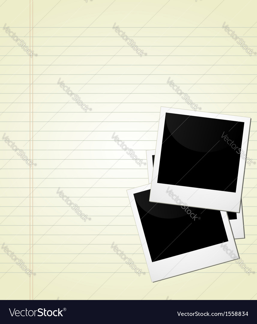 Polaroid on page vector | Price: 1 Credit (USD $1)