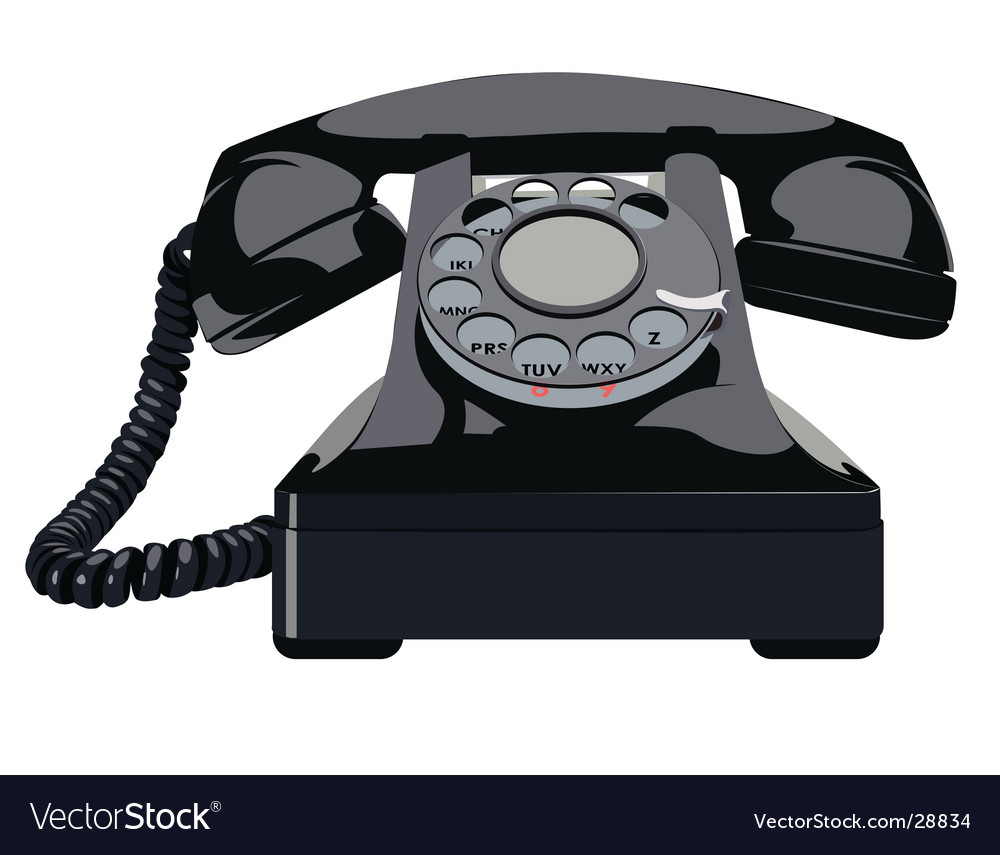 Retro telephone vector | Price: 1 Credit (USD $1)