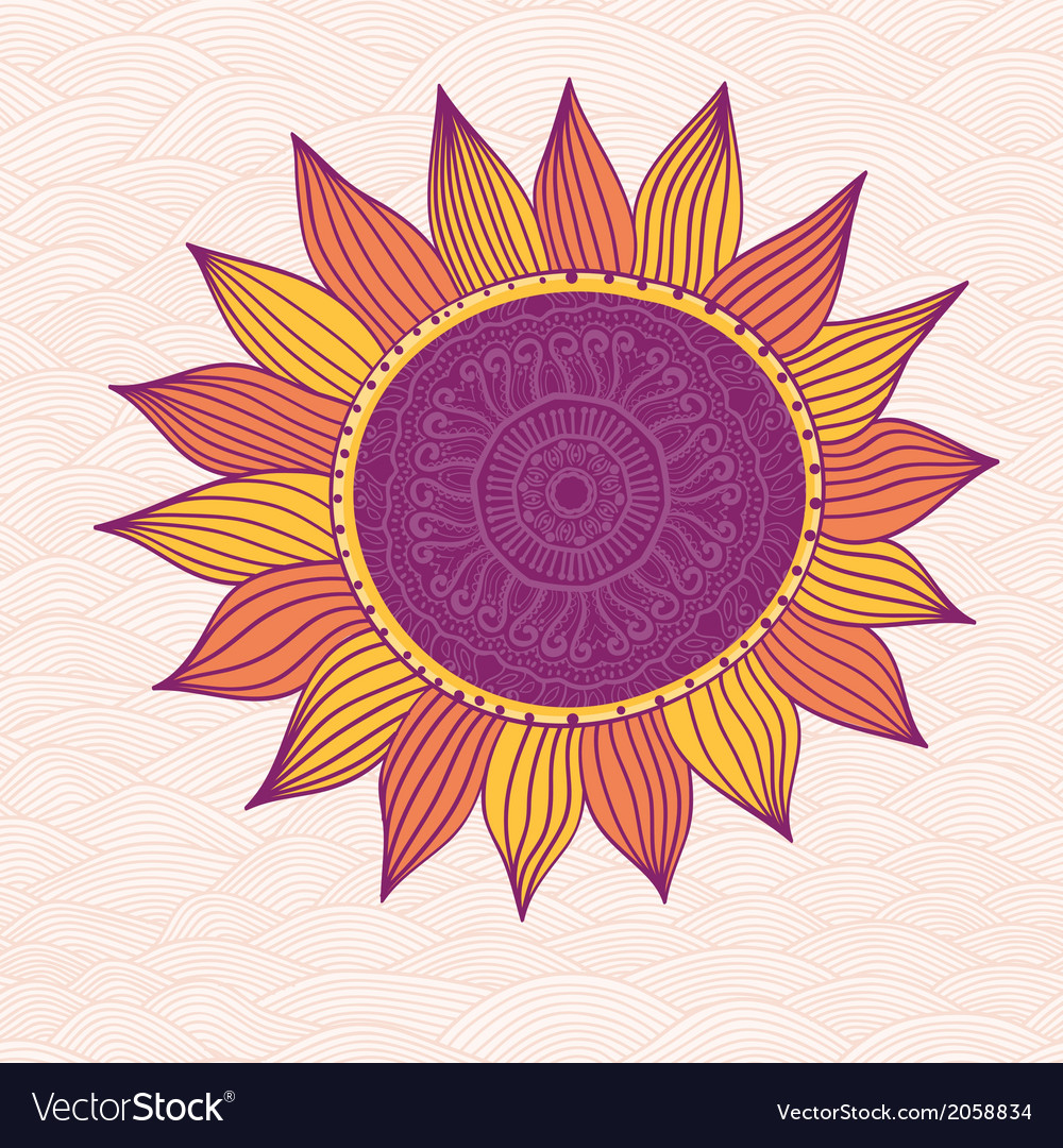Stylized sun vector | Price: 1 Credit (USD $1)